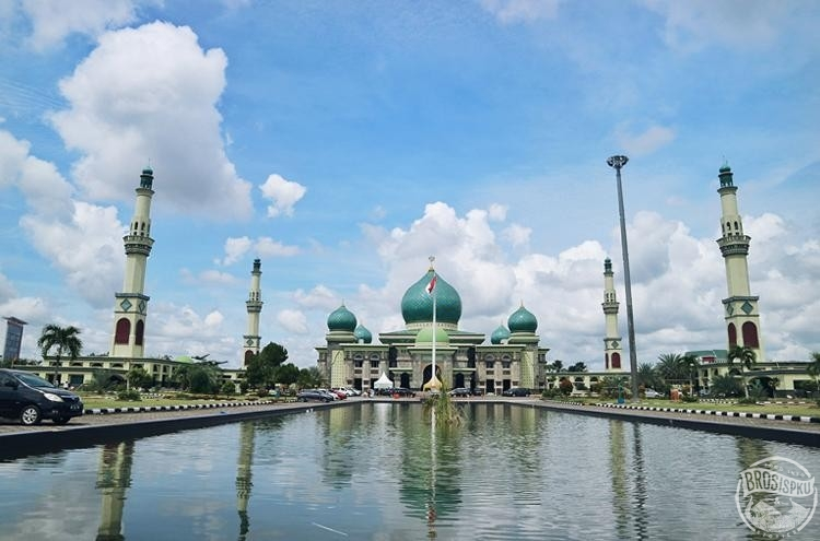 Masjid Agung Nur Keindahan Taj Mahal Ala Pekanbaru Brosispku Kota