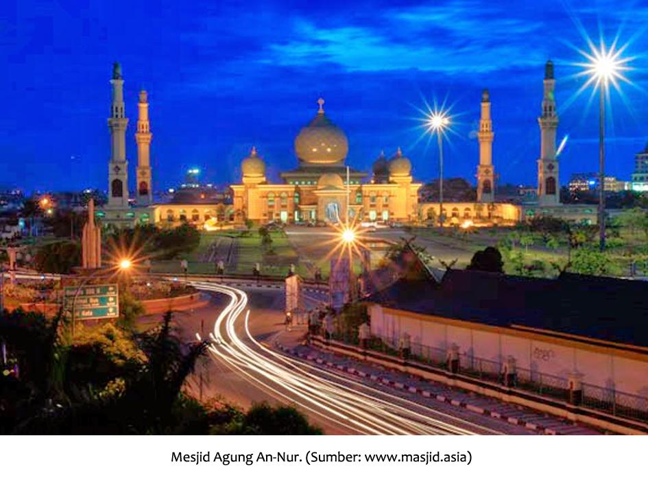 Masjid Agung Nur Kubahnya Dicor Mahasiswa Unri Bahanamahasiswa Annur Pekanbaru