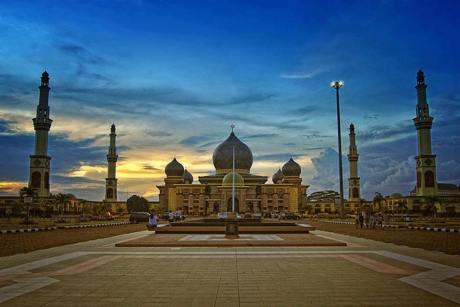 Masjid Agung Nur Pekanbaru Riau Indonesia Mosque Kota