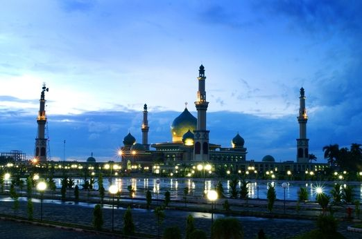 Masjid Agung Nur Pekanbaru Riau Indonesia Mosque Pinterest Kota
