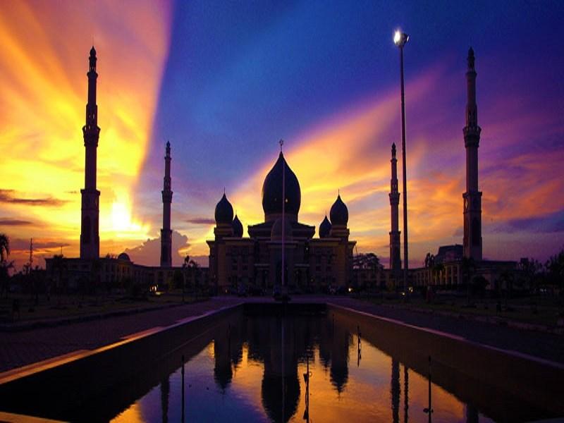 Masjid Agung Nur Pekanbaru Taj Mahalnya Indonesia Inspira Data Foto