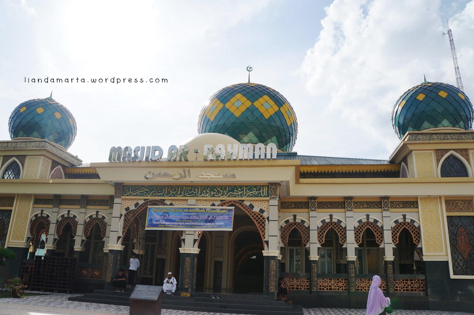 Masjid Berdesain Indah Pekanbaru Liandamarta Nah Suka Tidak Sebesar Agung