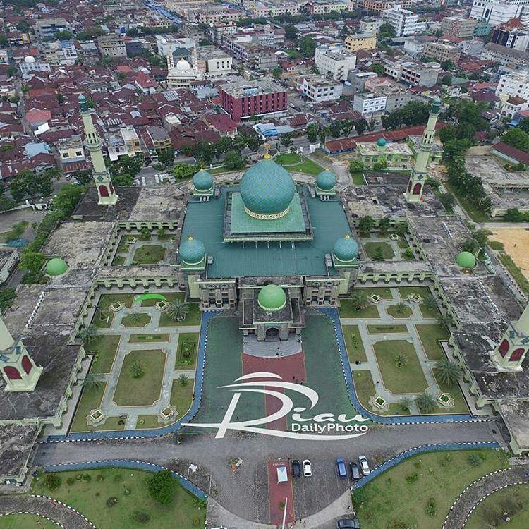 Mesjid Agung Nur Pekanbaru Udara Riau Magazine Riaumagz Regrann Riaudaily