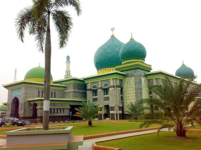 10 Gambar Masjid Agung Nur Pekanbaru Lokasi Alamat Sejarah Raya