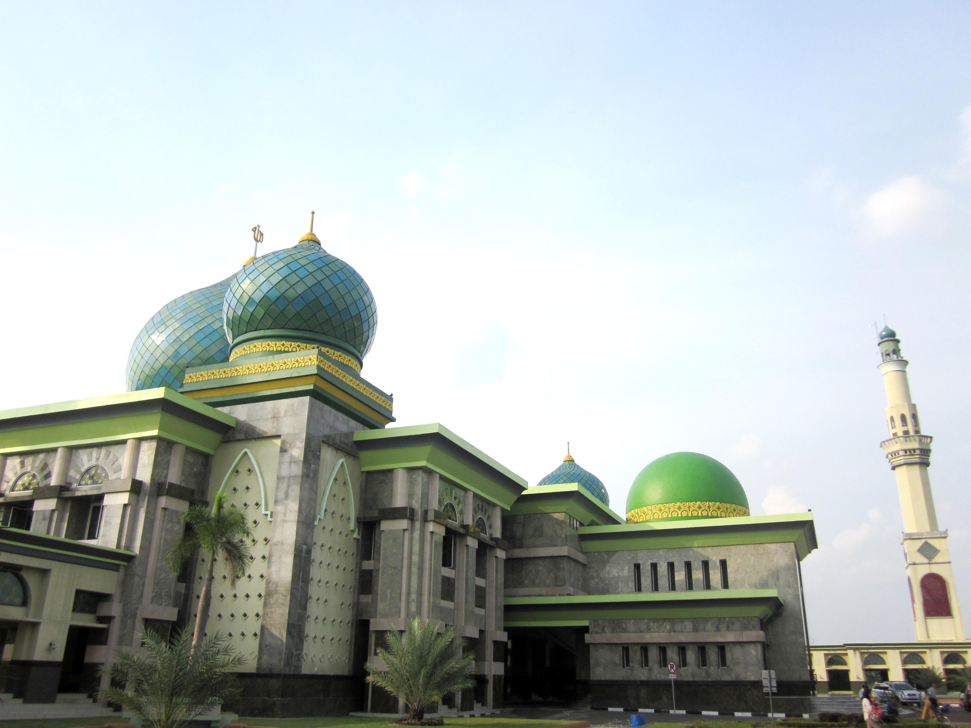 Masjid Agung Nur Dunia Jakarta Islamic Centre Pekanbaru Riau Raya