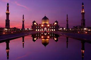 Masjid Agung Nur Pekanbaru Riau Indonesia Mosque Raya Kota