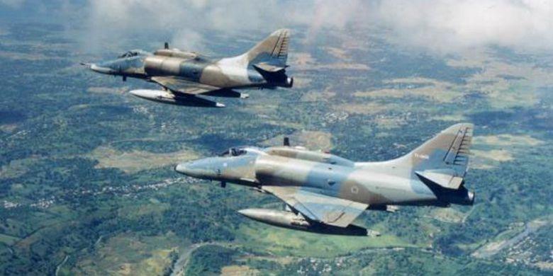 4 Skyhawk Sejarah Pertahanan Kompas Pesawat Milik Tni Au Dibeli