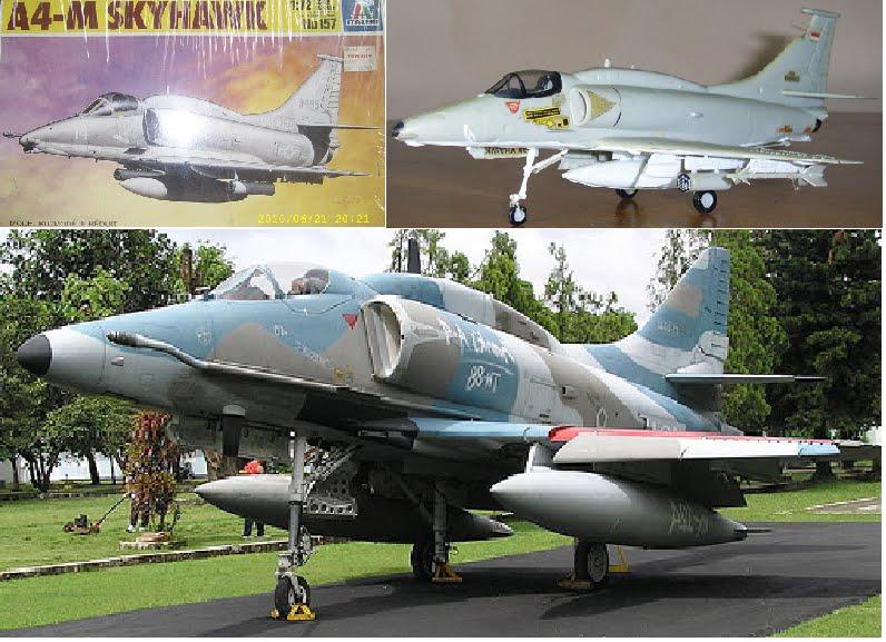 Airplane Scale Modelkit Douglas 4 Skyhawk Monumen Dilihat Pesawat 4e