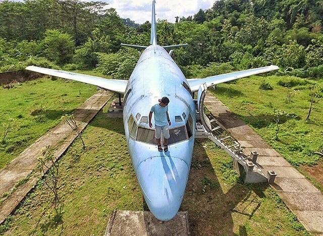 Tempat Keren Monumen Pesawat Terbang Instagram Banget 4e Skyhawk Kota