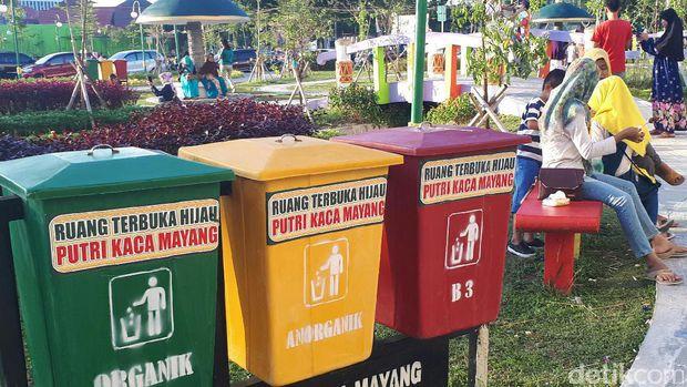Buka Rth Putri Kaca Mayang Ramai Dikunjungi Warga Pekanbaru Dilengkapi