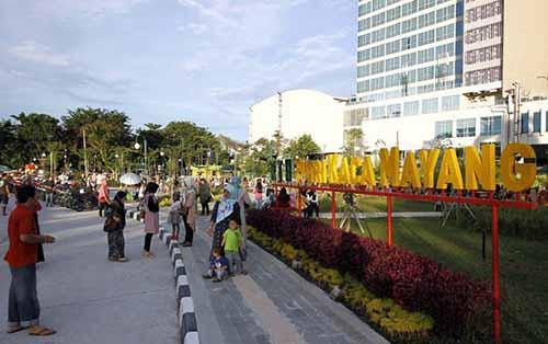 Dibuka Taman Kota Putri Kaca Mayang Jadi Idola Kekinian Warga