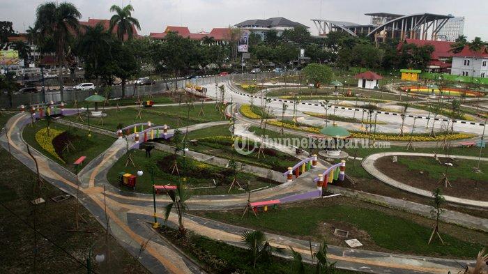 Foto Pembangunan Rth Putri Kaca Mayang Tribun Pekanbaru 20170106 141025