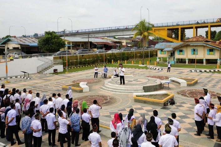 Dispar Riau Gelar Sertijab Halaman Rumah Singgah Tuan Kadi Kota