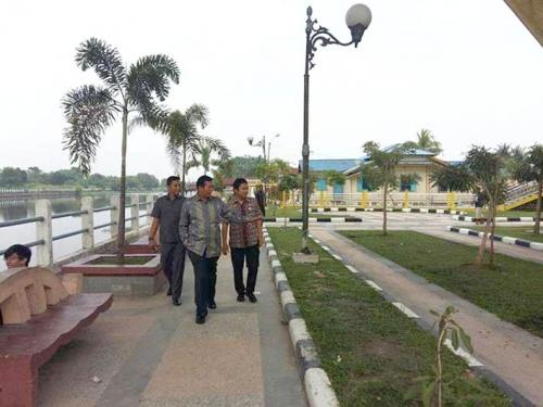 Goriau Pemko Pekanbaru Bangun Taman Rumah Singgah Tuan Kadi Kota