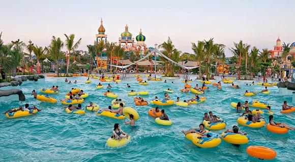 4 Tempat Wisata Surabaya Jatim Wisatachan Ciputra Waterpark Taman Air