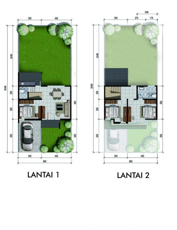 Rumah Dijual Citraland Type Magnolia Lb100 Lt160 Pekanbaru Denah Jpg