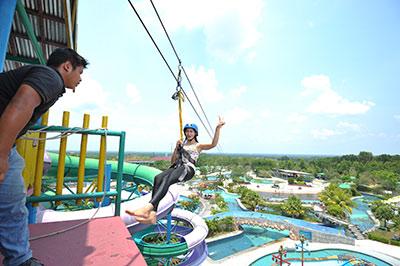 Wisata Riau Fantasi Labersa Theme Park Water Pekanbaru Taman Air