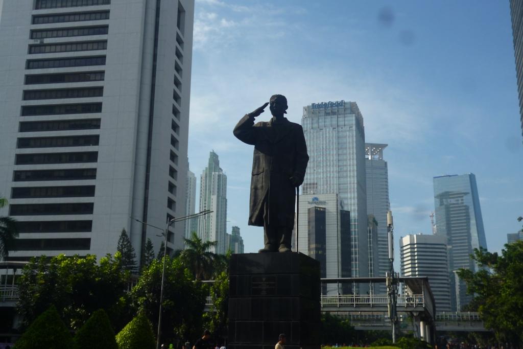 Monument Statue Indonesia Skyscrapercity Patung Jend Sudirman Jakarta 12 Maret