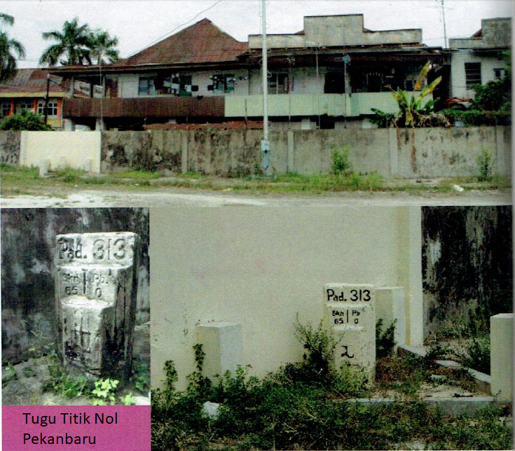 26 Lokasi Bersejarah Kota Pekanbaru Wisata Riau Sejarah Tugu Titik