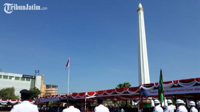 Upacara Peringati Hut 72 Digelar Tugu Pahlawan Jawa Timur Penghargaan