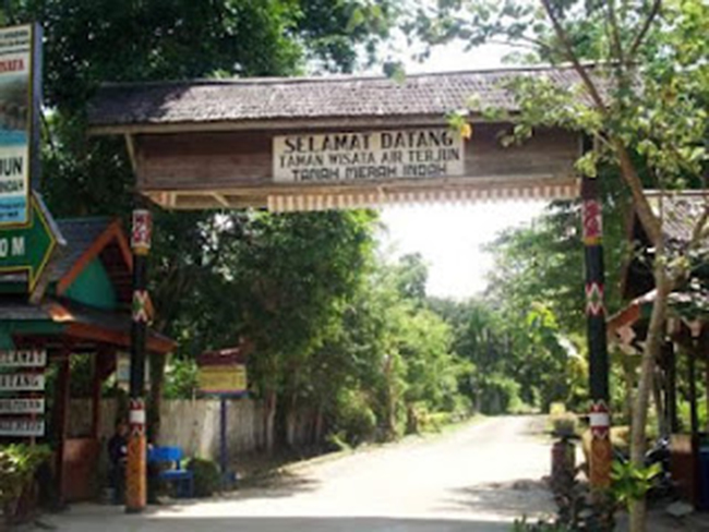 Terjun Tanah Merah Air Dunia Jungle Kota Samarinda