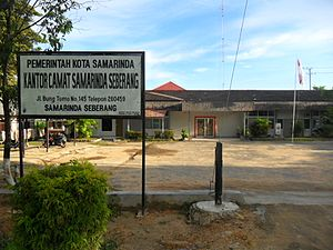 Samarinda Seberang Wikipedia Bahasa Indonesia Kantor Camat Kampung Tenun Kota