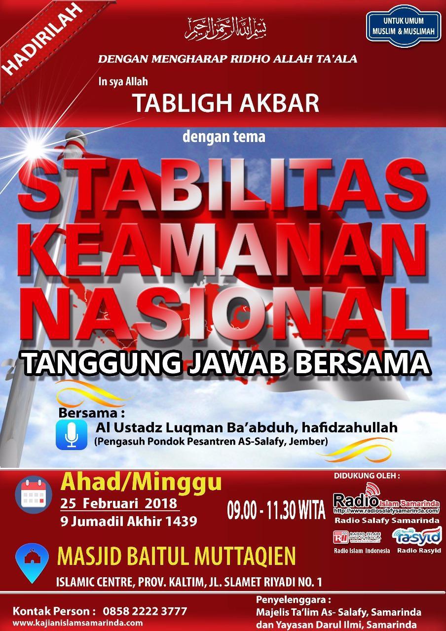 Hadirilah Kajian Islam Ilmiah Ahlussunnah Waljama Ah Samarinda Masjid Baitul