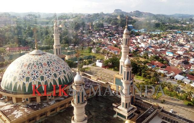 Klik Samarinda Pesona Ketinggian Masjid Islamic Center Baitul Muttaqien Kota