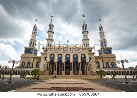 Masjid Baitul Muttaqien Samarinda Indonesia Stock Photo Royalty Free 665706604