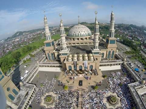 Samarinda Lovers Twitter Aerial View Masjid Baitul Muttaqien Islamic Centre