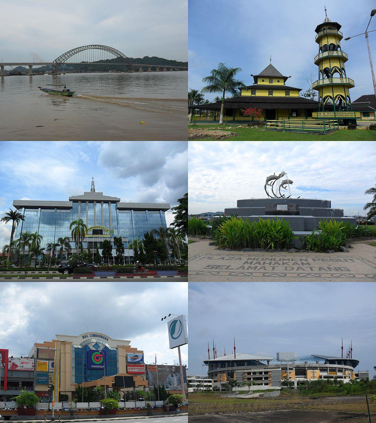 Kota Samarinda Wikipedia Bahasa Indonesia Ensiklopedia Bebas Patung Pesut Tepian