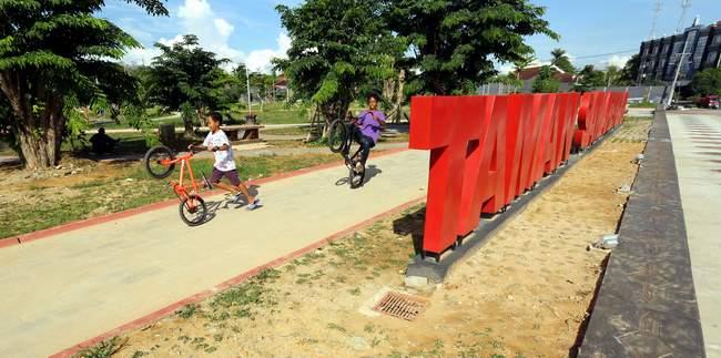 Target Satu Kecamatan Taman Kaltim Post Fasilitas Publik Pembangunan Samarendah