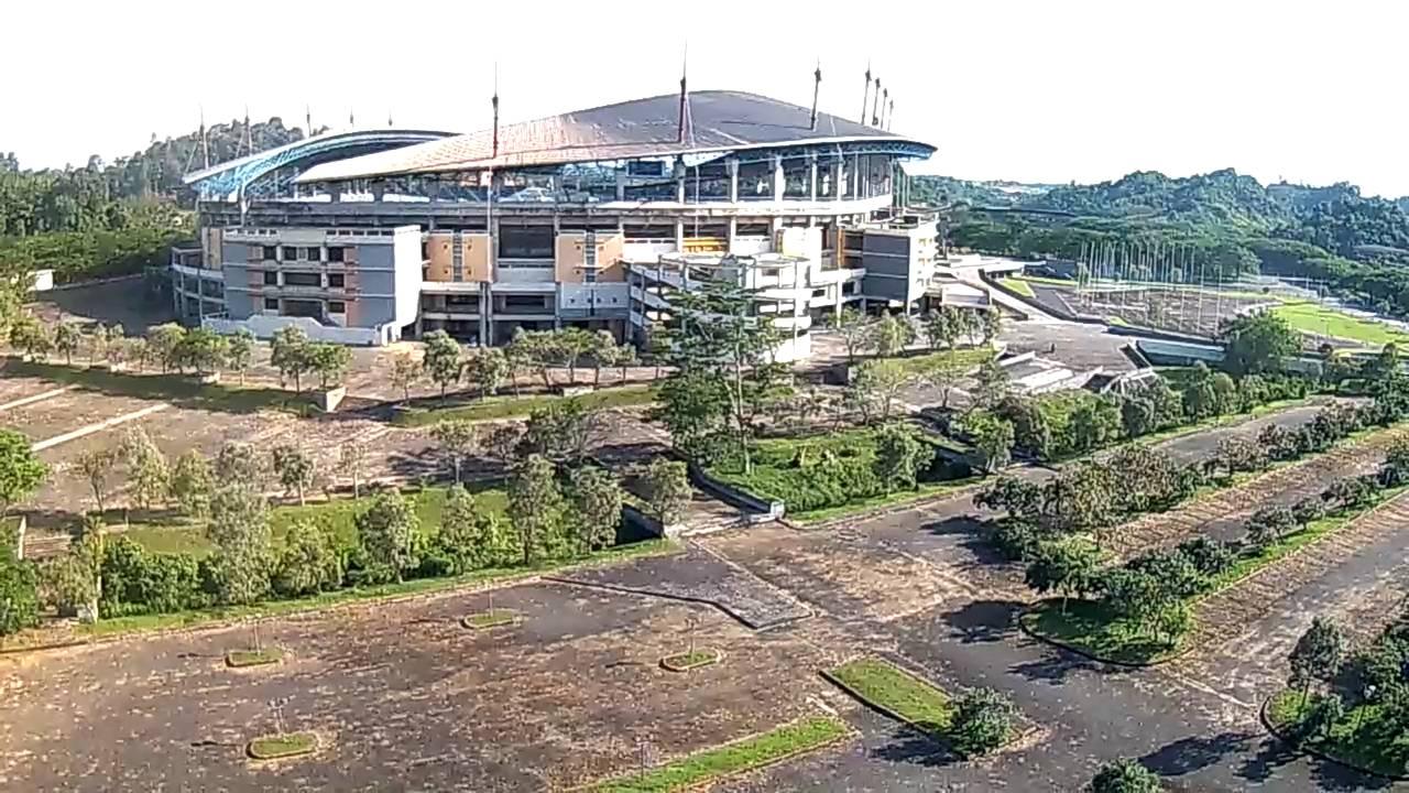 Foto Udara Stadion Megah Palaran Tengah Hutan Samarinda Langit Utama