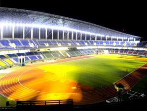 Samarinda Kota Tepian Stadium Palaran Bangunan Samping Stadion Utama Pakai
