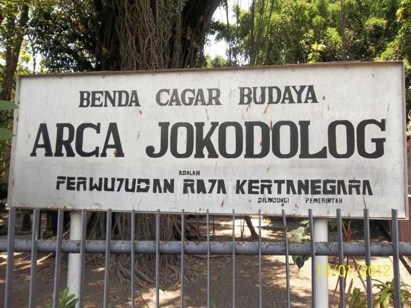 Mengenal Arca Joko Dolog Surabaya Jangka Jawa Menurut Bupati Patung
