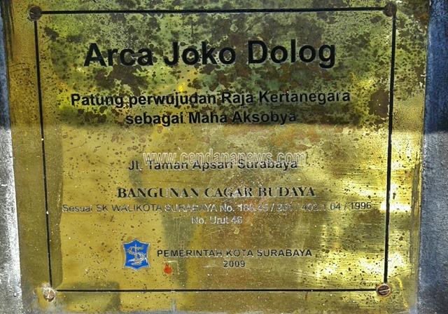 Wisata Sejarah Arca Joko Dolog Surabaya Cendana News Pengelolaan Tempat