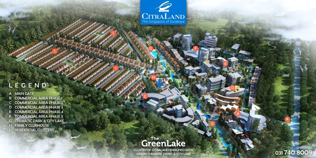 Citraland Greenlake Level Urban Living Green Lake Citra Surabaya Legend