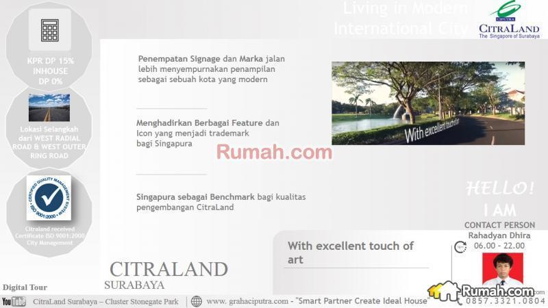 Citraland Surabaya Cluster Stonegate Park Tipe Maple Citra Raya Excellent