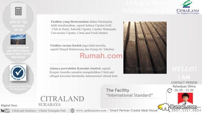 Citraland Surabaya Cluster Stonegate Park Tipe Maple Citra Raya Facility