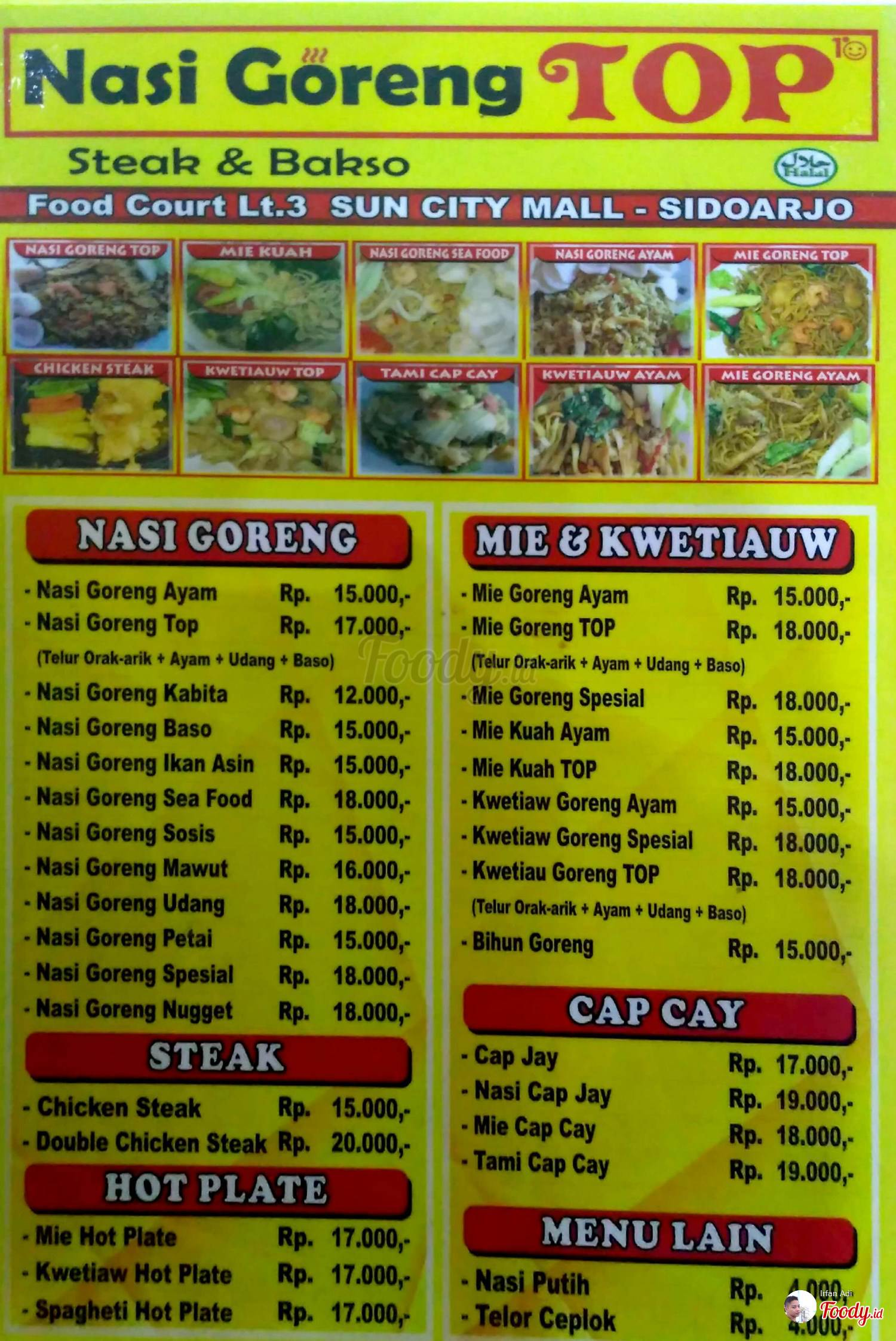 Nasi Goreng Top Food Junction Grand Pakuwon Surabaya Foody Id