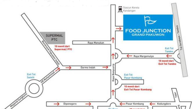 Review Food Junction Grand Pakuwon Tempat Kuliner Surabaya Juntion Maps