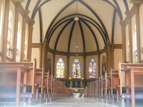 Bagian Gereja Indah Foto Santa Perawan Maria Tak Berdosa Kota