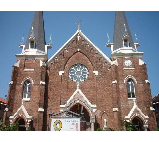 Birth Virgin Mary Church Surabaya East Java Built 1822 Maria