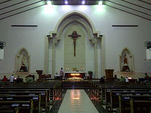 Gereja Santa Maria Tak Bercela Surabaya Wikipedia Bahasa Altar Perawan
