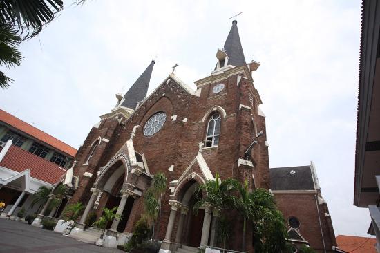 Gereja Tampak Depan Foto Santa Perawan Maria Surabaya Tak Berdosa