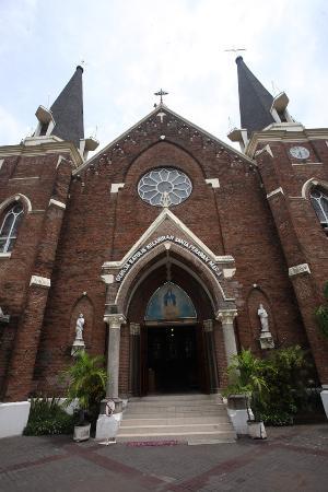 Gereja Tampak Depan Picture Santa Perawan Maria Tak Berdosa Kota
