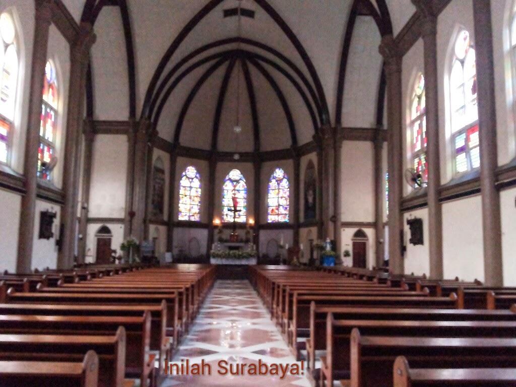 Inilah Surabaya Gereja Kepanjen Bagian Perawan Maria Tak Berdosa Kota