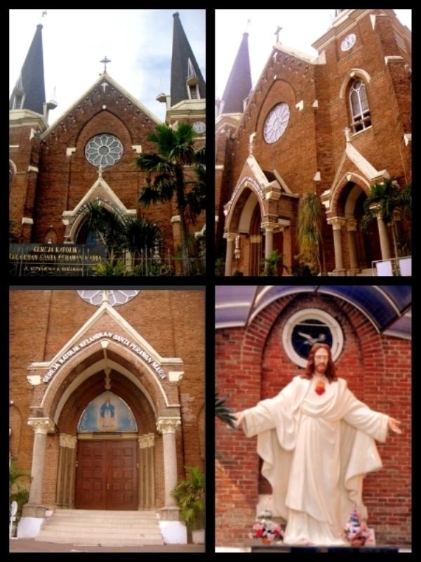 Wisata Religi Surabaya Bangunan Khas Gereja Eropa Lengkap Gua Maria