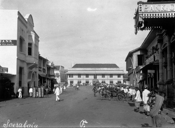 De Handelstraat Soerabaja Oost Java Jl Kembang Jepun Circa Surabaya