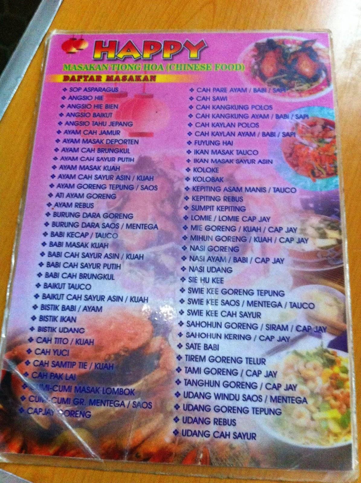 Kuliner World Happy Masakan Tiong Hoa Chinnese Food Kembang Jepun